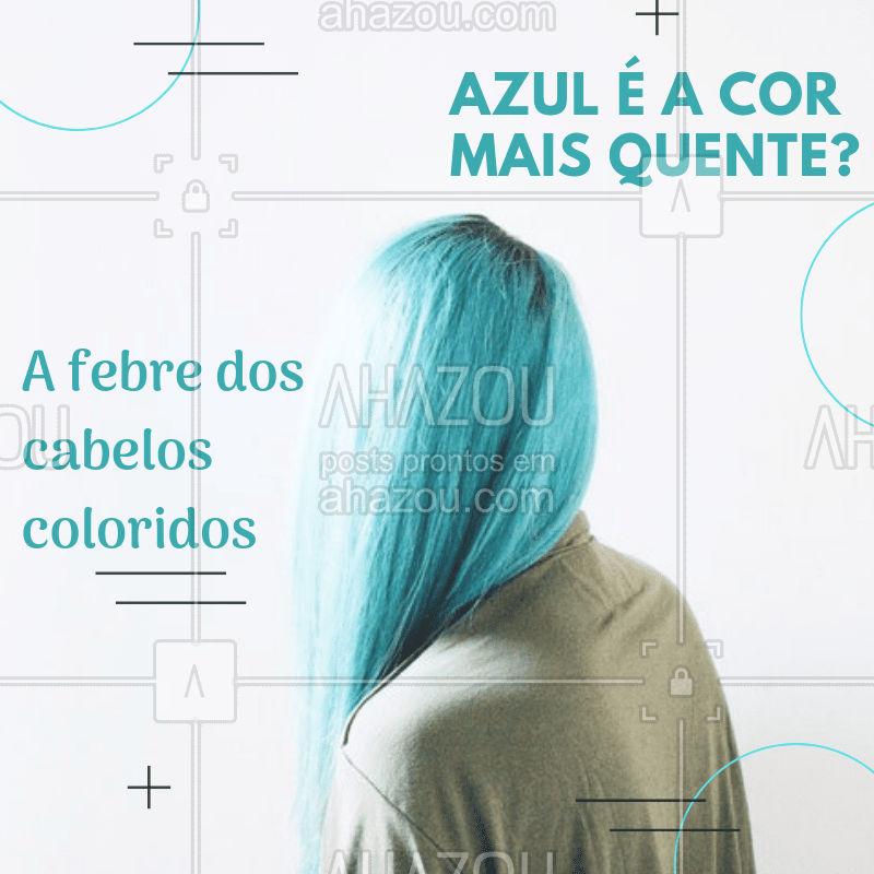 Os cabelos coloridos têm sido tendência entre as mulheres, oferecendo a mudança radical de visual e trazendo mais cores para o espelho. #cabelo #tendencias #ahazou