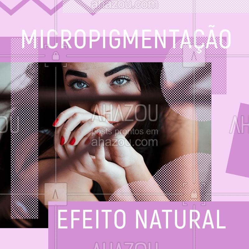 Você sabia que a micropigmentação deve ter um efeito natural e combinar com o formato do seu rosto? Pois é, essa técnica tende a deiaxr seu olhar lindo. Agende seu horário e deixe que a gente cuide das suas sobrancelhas para você. #sobrancelhas #ahazousobrancelha #micropigmentacao