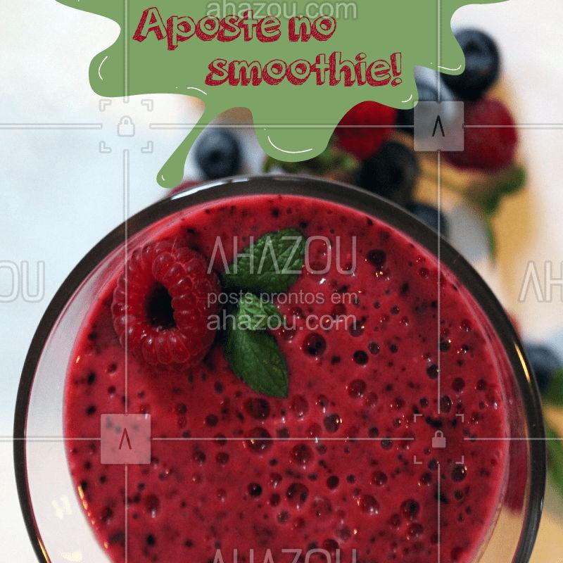Venha provar essa delícia perfeita para o calor. #alimentacao #ahazou #saudavel #smoothie