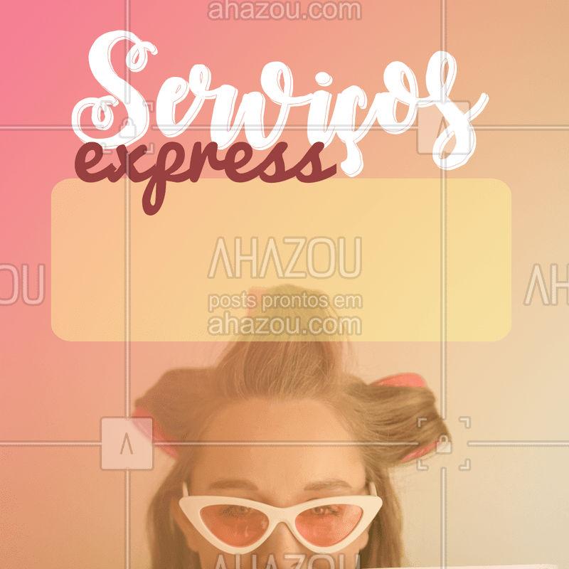 Aproveite para agendar o seu horário agora mesmo! ? #beleza #ahazou #express