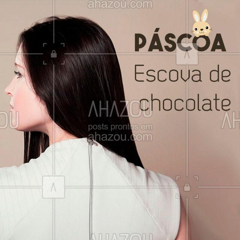A escova de chocolate, poderosa por conter entre os seus ingredientes o tão amado chocolate, alisa as madeixas e dá vida aos fios, hidratando-os profundamente, além de deixar aquele cheirinho sem igual! ?? #chocolate #ahazou #escovadechocolate #escovaprogressiva