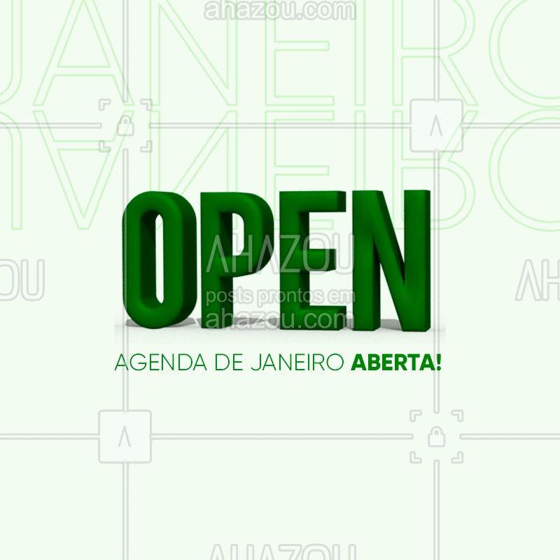 AGENDA DE JANEIRO ABERTA ? Adiante o seu horário!  #agenda #ahazou #janeiro