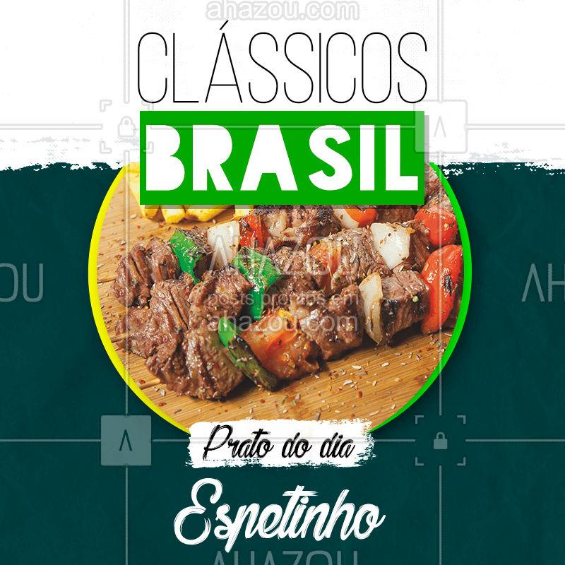Hoje é dia desse clássico brasileiro que a gente tanto ama ??   Vem se deliciar ? #comidabrasileira #classicos #espetinho #brasil #ahazoutaste #bandbeauty