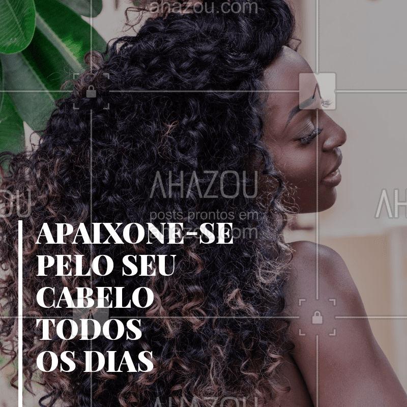 Você merece se apaixonar todos os dias pelo seu cabelo ?❤️️ Venha se cuidar aqui! #cabelo #ahazou #autoestima #cabeleireiro #inspiraçao