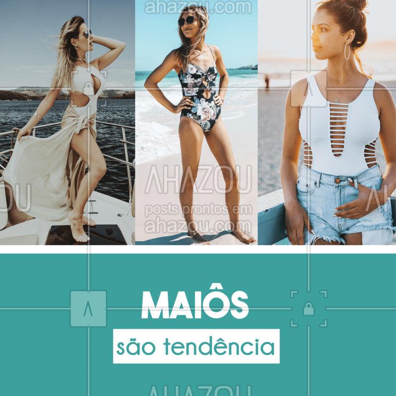 Os maiôs vieram pra ficar e estão super em alta. Ele é muito versátil, serve pra você curtir a praia/piscina ou então usar em outras ocasiões! Uma ideia legal é que você pode usa-lo como body junto com um shorts ou uma saia e montar produções mais elaboradas e despojadas, vale a pena apostar nessa tendência. ? #modapraia #maiô #ahazou #bandbeauty #tendência #useeabuse #fashion