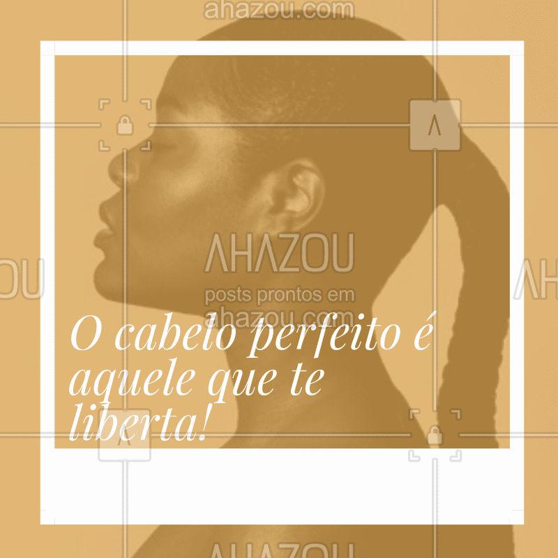 Se ame, se cuide e se aceite! ✨❤️️ #cabelo #ahazou #frases