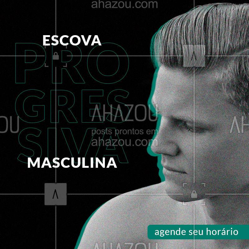 Não perca mais tempo, agende agora a sua escova progressiva! ? (xx) xxxxx xxxx!  ? #progressivamasculina #ahazoubeauty  #barbeirosbrasil #barbeiro #barbearia