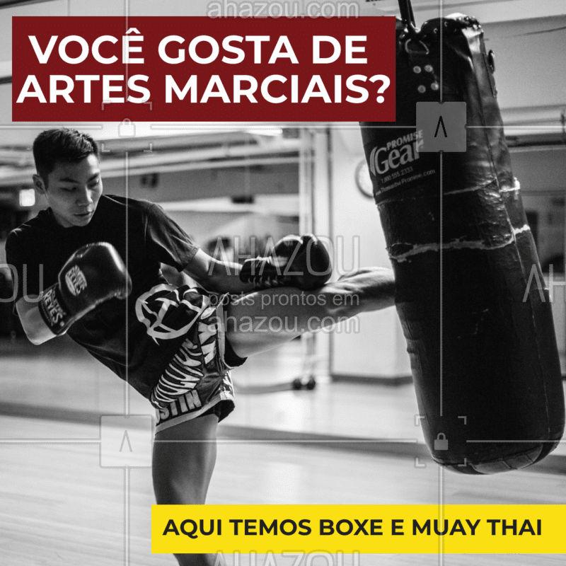 Se você gosta de Artes Marciais e está procurando por uma boa luta, você está no lugar certo. Temos aulas de boxe e muay thai!  #LUTA #BOXE #MUAYTHAI #AHAZOU