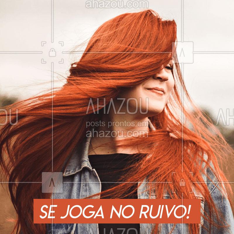 O cabelo ruivo está em alta. Super moderno e elegante, é uma tendência que se multiplica em diversas tonalidades. Você pode deixar o seu ruivo mais alaranjado, avermelhado, acobreado, entre outras. SE JOGA MIGA! #ruivo #cabelos #ahazou #cabeloruivo #tendencia
