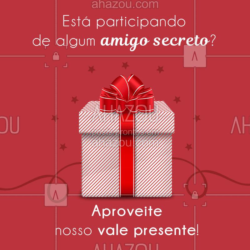 No nosso vale presente você ganha um desconto especial! Confira ?(...) #promocional #desconto #valepresente #ahazou #amigosecreto #bandbeauty