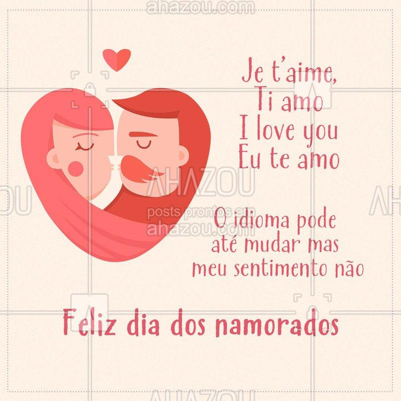 Marque seu amor que te inspirou a aprender línguas ❤? #amor #diadosnamorados #AhazouEdu #idioma #sentimento