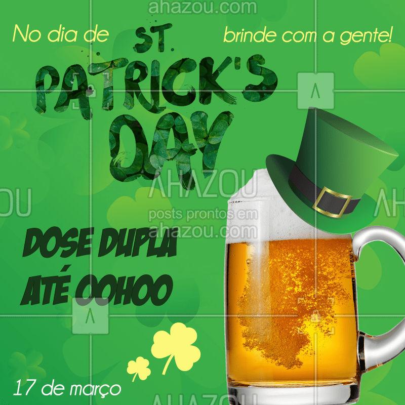 """""""karaka… só de imaginar a boca enche d'água, pensando assim a gente lançou essa super promoção em comemoração ao Dia de São Patrício! Você não vai ficar de fora dessa, né? #saintpatricksday #saopatricio #diadesaopatricio #saintpatrick #irlanda #irlandes #ahazou #promocao #dosedupla #cerveja #chopp #caneca #canecazerograu #beer #beerlovers #marco #17demarco #17"""