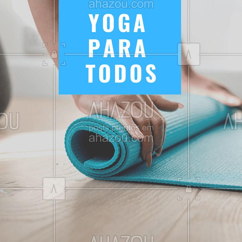 O Yoga é para TODOS, não só para mulheres. Atualmente temos notado o retorno dos homens nas aulas de yoga, já que buscar o auto-conhecimento, o auto-cuidado, uma melhora na respiração e flexibilidade é para todos. Eles também tem buscado o Yoga para preparar seu físico e mental para atividades como surf, corrida, ciclismo, sendo atleta profissional ou amador, e a prática do Yoga proporciona esse equilíbrio necessário entre o físico e o mental! Agende já a sua aula com a gente. Whatsapp XXXX-XXXX #yoga #yogaparatodos #ahazousaude #exercicios #saude #bemestar