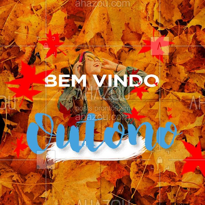 Chegou a estação das folhas no chão, o céu com um azul diferente, a brisa mudando para chegar o frio... Seja bem-vindo! ? #outono #ahazou