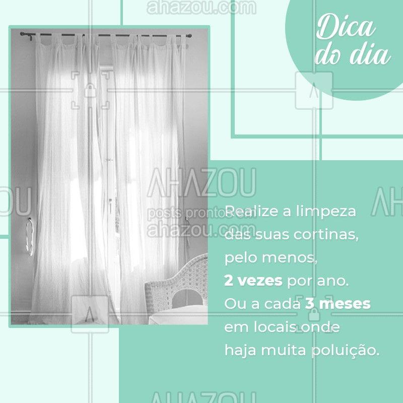 ? Além da limpeza das nossas roupas, é importante ficar atendo a limpeza de peças que compõem a decoração da casa. No caso das cortinas, elas devem ser lavadas, pelo menos, a cada 6 meses. Ou, se estiverem em locais onde haja circulação de muitos veículos, ocasionando em maior acúmulo de poeira, o ideal é que a higienização seja feita a cada 3 meses. ?❤️ Assim, você cuida da sua saúde e da saúde da sua família. #lavanderia #lavanderiadomestica #AhazouLavanderia #dicas #roupasdecama