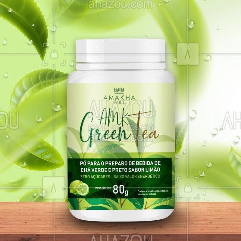 Aproveite para ter uma experiência inovadora. Conheça o Gree Tea, pó para preparo de bebida de chá verde e preto sabor limão. Você vai perceber que a sua ingestão auxilia na redução de peso, inibe os radicais livres, reduz os açúcares no sangue e aumenta sua disposição para atividades físicas. Compre os produtos da linha nutricional da Amakha Paris e tenha uma vida mais saudável! #ahazourevenda #amakha #revenda