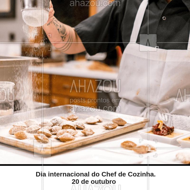 Hoje é o dia daqueles que conquistam o nosso paladar e nos enchem de alegria com seus sabores. Parabéns a todos os Chefs do mundo! #diainternacional #chefsahz #ahazou #gastronomia