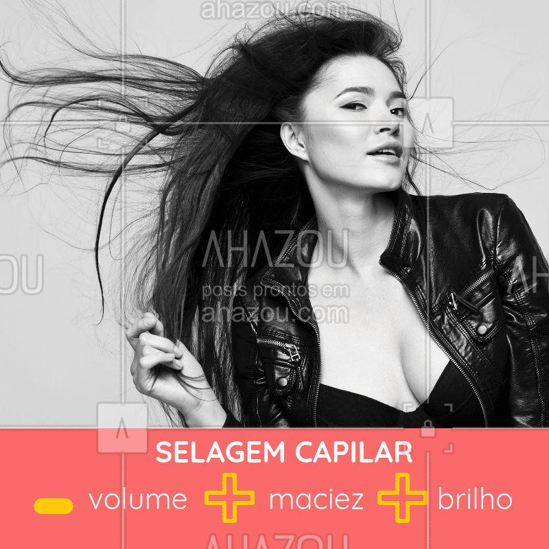 É cabelo maravilhoso e bem cuidado que você quer? Venha cuidar do seu com a selagem capilar! ? #selagemcapilar #ahazou #cabelo #cuidadoscomocabelo