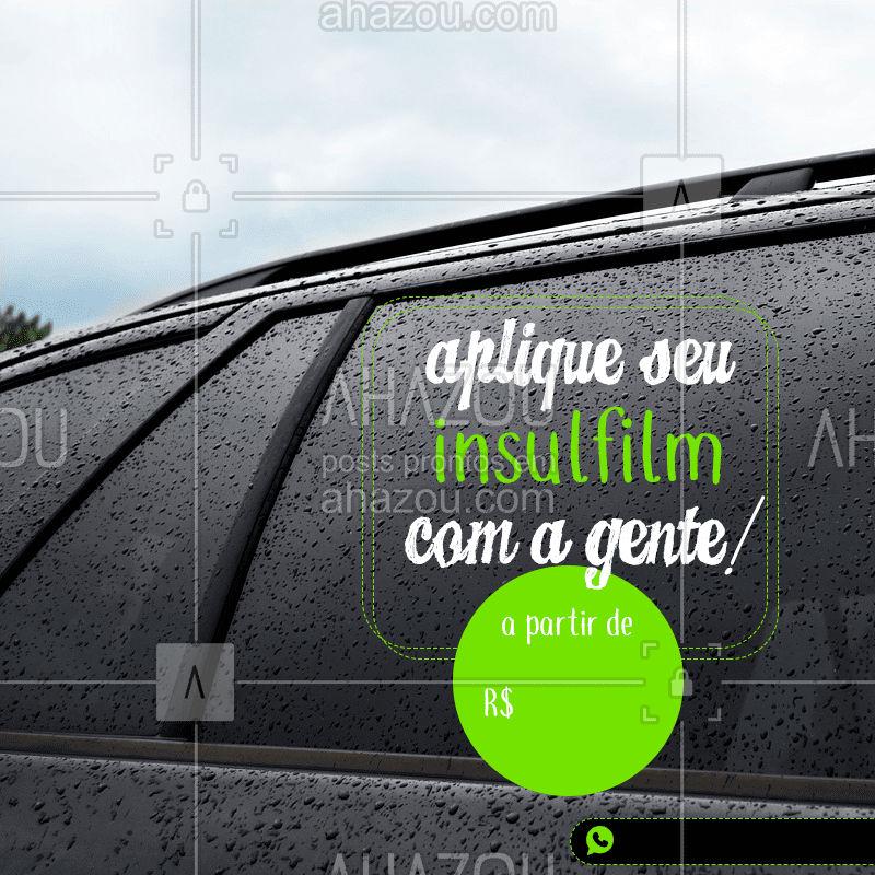 Garanta mais segurança e privacidade para seu carro!  #AhazouAuto  #carros #esteticaautomotiva #automotiva #insulfim  #vidro