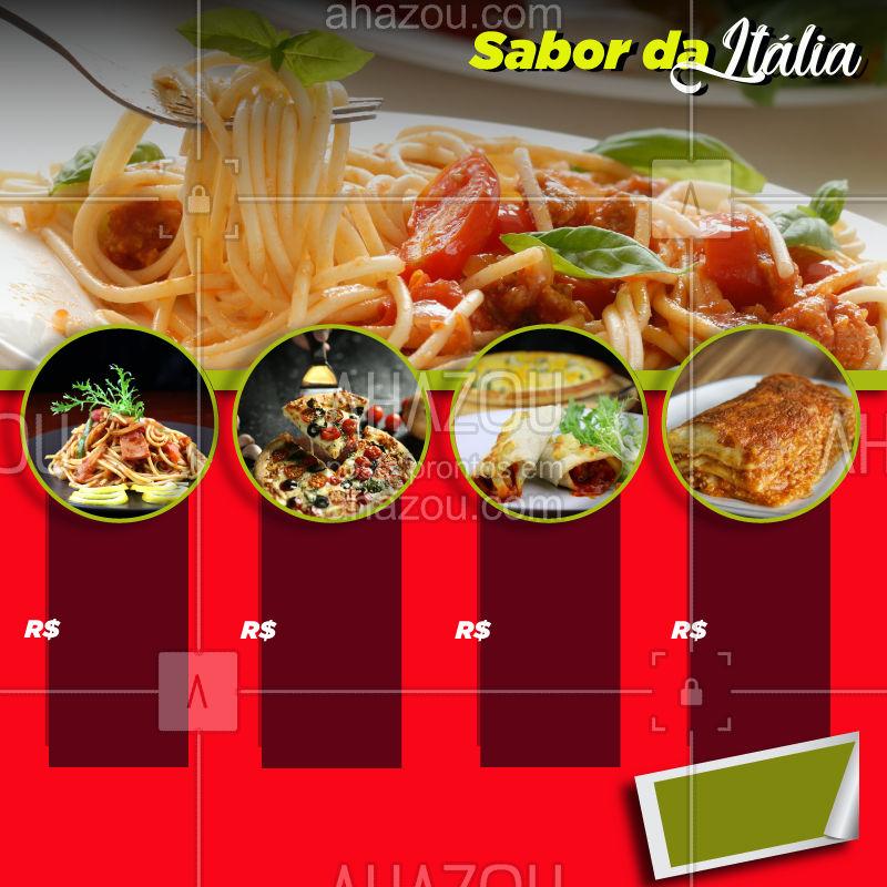 O sabor tradicional da Itália por um preço originalmente brasileiro ???? #massa #euamomassa #pasta #pastalovers #italian #italianfood #culinariaitaliana #cozinhaitaliana #ahazou #delicia #promo #promocao