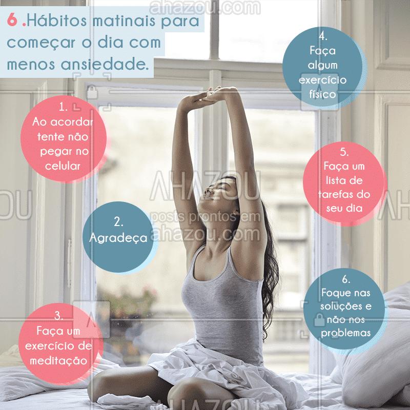 Comece o dia cuidado de você! ? #ansiedade #saúdemental #corpoemente #ahazou #bandbeauty #cuidedevocê #saúde
