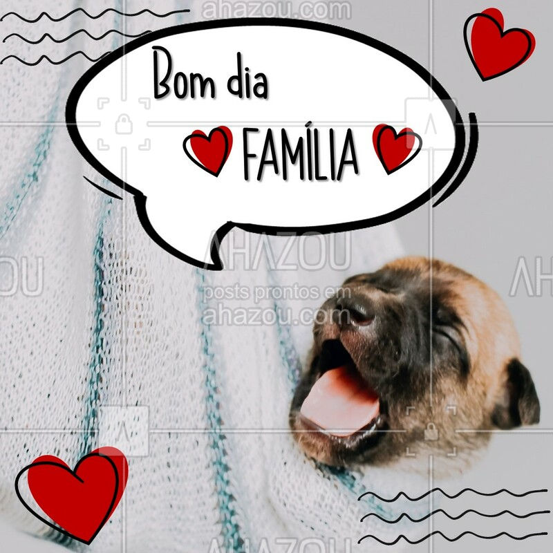 ❤️ Hoje 8 de Dezembro é comemorado o Dia da Família ? Aproveite para dar muito amor pros pets, que também fazem parte da nossa família! #pet #ahazoupet #diadafamilia #familia