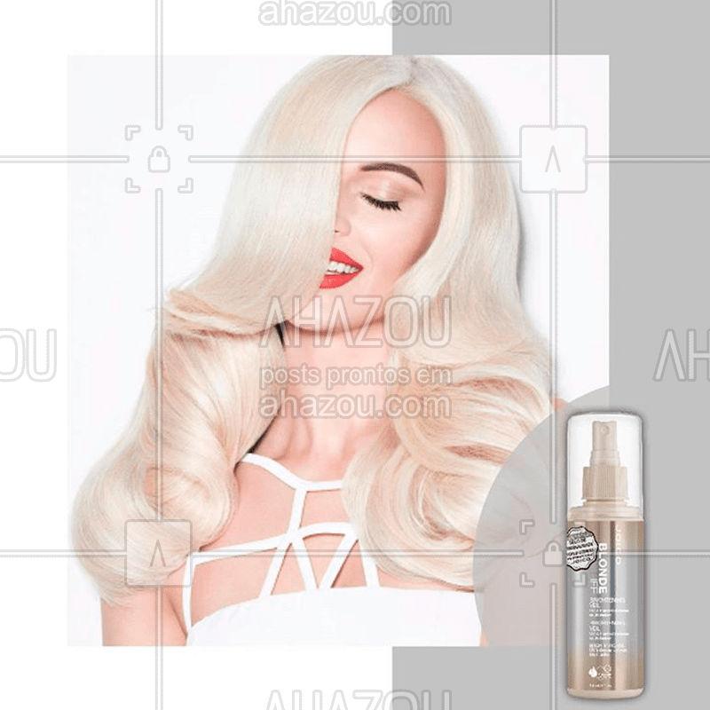 Loiro superiluminado! Se você quer garantir que seu cabelo platinado esteja sempre cheio de luz, aposte nesse parceiro para todas as horas: BLONDE LIFE BRIGHTENING VEIL. Ele é ncrível e multifuncional. Nutre, hidrata e protege! ⠀ #joico #joicobrasil #ahazoujoico #blondelife #beleza #hair