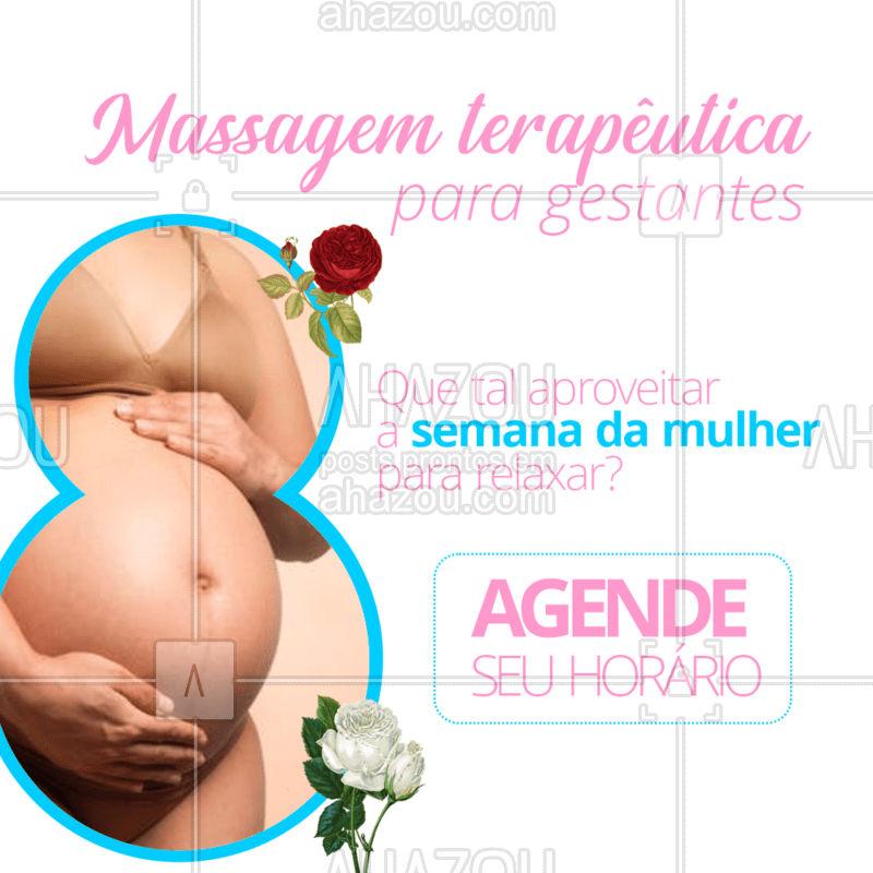 A massagem terapêutica promove diversos benefícios para as grávidas. Ela atua reduzindo a ansiedade, diminuindo dores nas costas e perna, melhorando a qualidade do sono, e diminuindo os níveis do hormônio do estresse. Aproveite para comemorar o seu dia com aquela deliciosa sensação de bem estar e relaxamento. Agende seu horário. ??♀?#massoterapia #Ahazou #massagem #diadamulher #semanadamulher #gestante #mulheresgravidas #futuramamae #massagemterapeutica