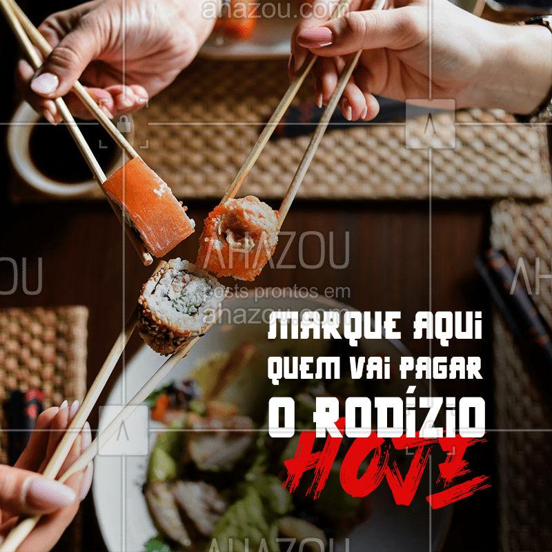 Quem vai ser o sortudo(a) que vai comer muito japa nas custas do amigo? #ahazoutaste #sushitime #japanesefood #comidajaponesa