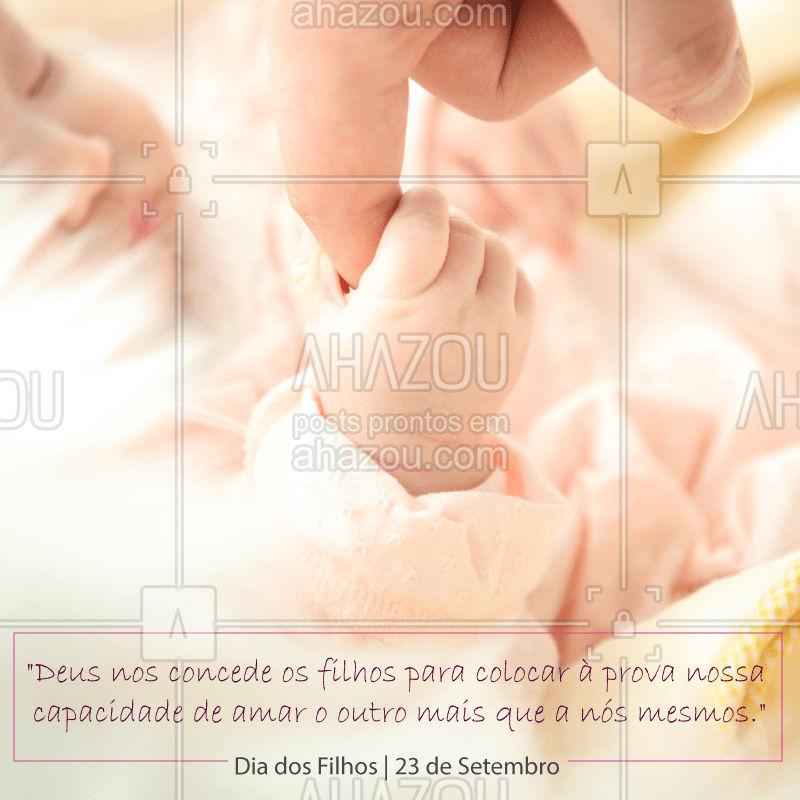 Só quem tem filhos consegue entender o tamanho desse amor... Feliz Dia dos Filhos! ❤️ #diadosfilhos #ahazou #filhos #maes #maedemenina #maedemenino