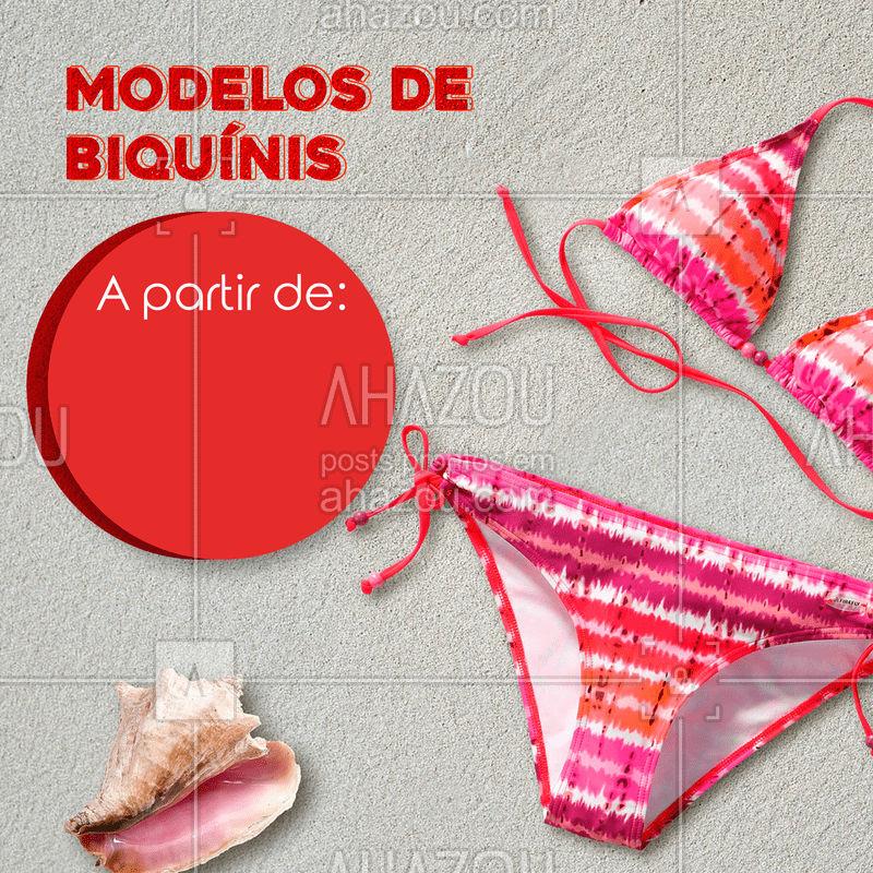 Temos biquínis de modelos básicos com um preço especial, vem conferir cores e tamanhos ??  #biquínis #moda #praia #ahazou #piscina #mar #água #maiô #sol #verão