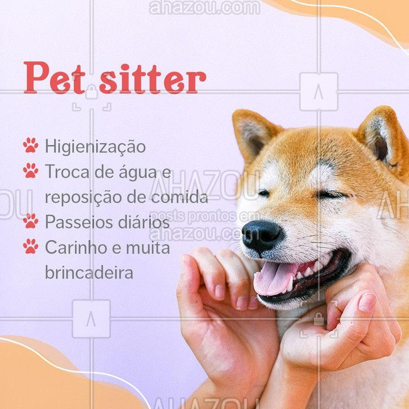 Vai viajar e não sabe onde deixar seu bichinho? Conte comigo para isso! Seu pet ficará em segurança e será muito bem cuidado enquanto você estiver fora! Entre em contato para agendamentos e informações! #AhazouPet  #dogsitter #petsitting #petsitter