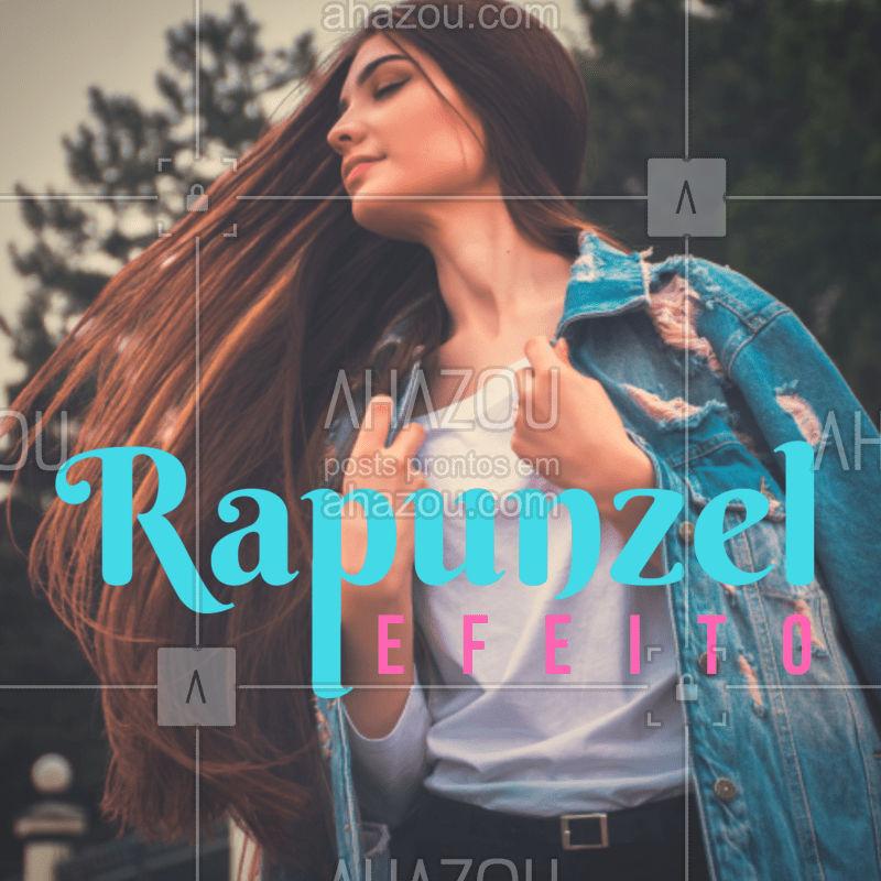 Venha conhecer o nosso pacote capilar e sinta o verdadeiro efeito Rapunzel! #cabelo #ahazou #ahazoubeleza #Rapunzel