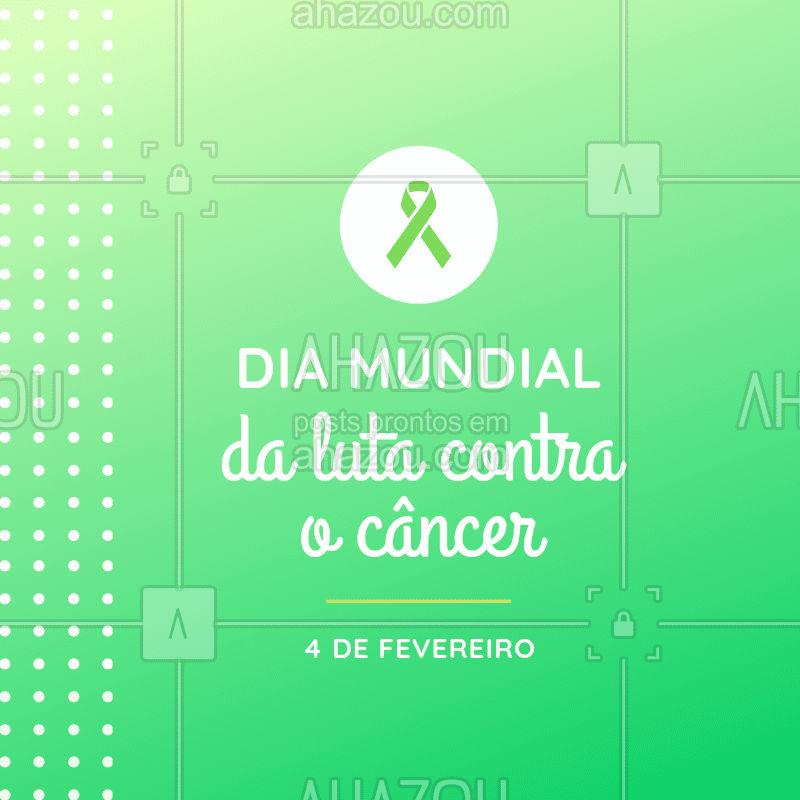 Hoje é o Dia Mundial da luta contra o Câncer, dia de  mobilizar pessoas e organizações no mundo todo para reforçar a importância de adoção de hábitos saudáveis, atitudes de prevenção, diagnóstico precoce e tratamento, fundamentais para o controle da doença. ?❤️️ #cancer #ahazou #diamundialcontraocancer