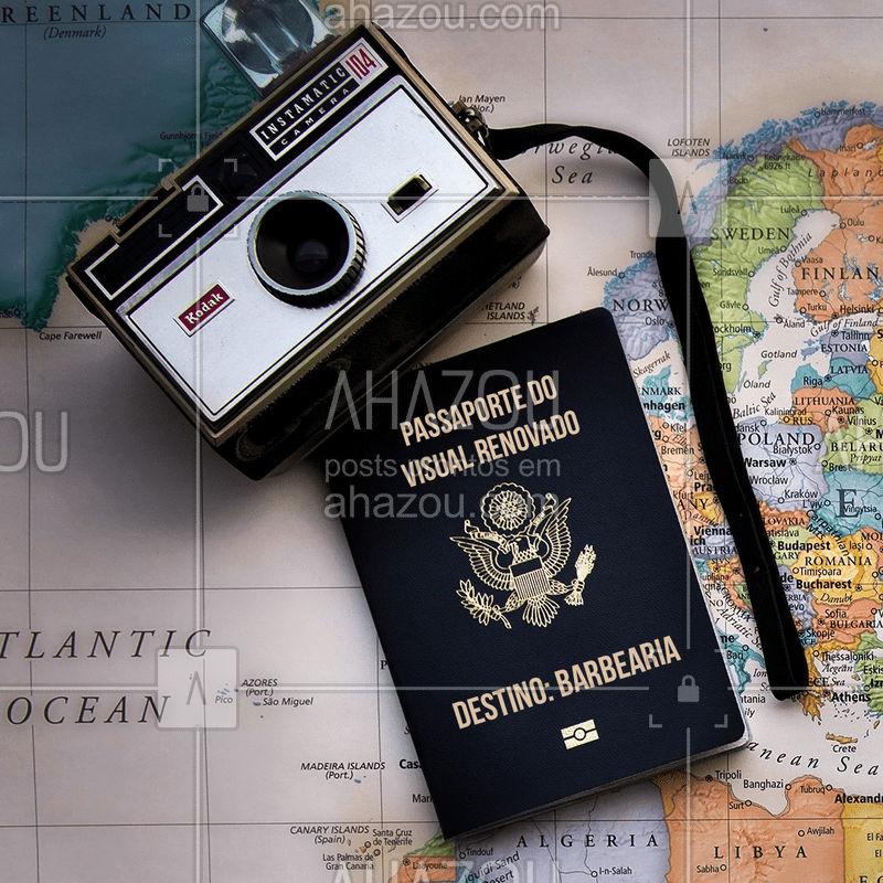 Bem-vindos passageiros ??✈️ Preparem-se para uma viagem surpreendente e repleta de cuidados! ✈️ #barbearia #ahazou #barba