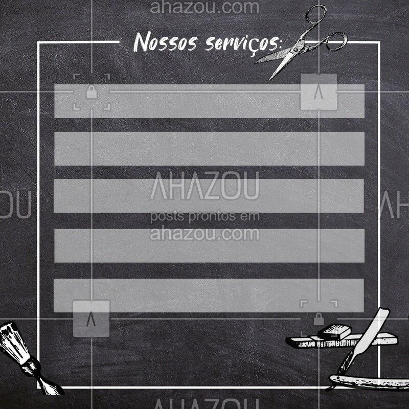 Já conhece nossos serviços? #serviços #ahazou #barbearia