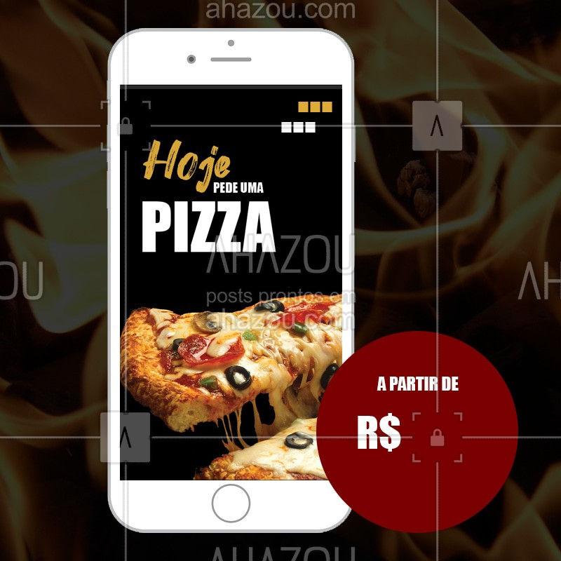 Não passe vontade não. Peça já seu sabor favorito! #pizza #pizzaria #bandbeauty #restaurante #ahazou