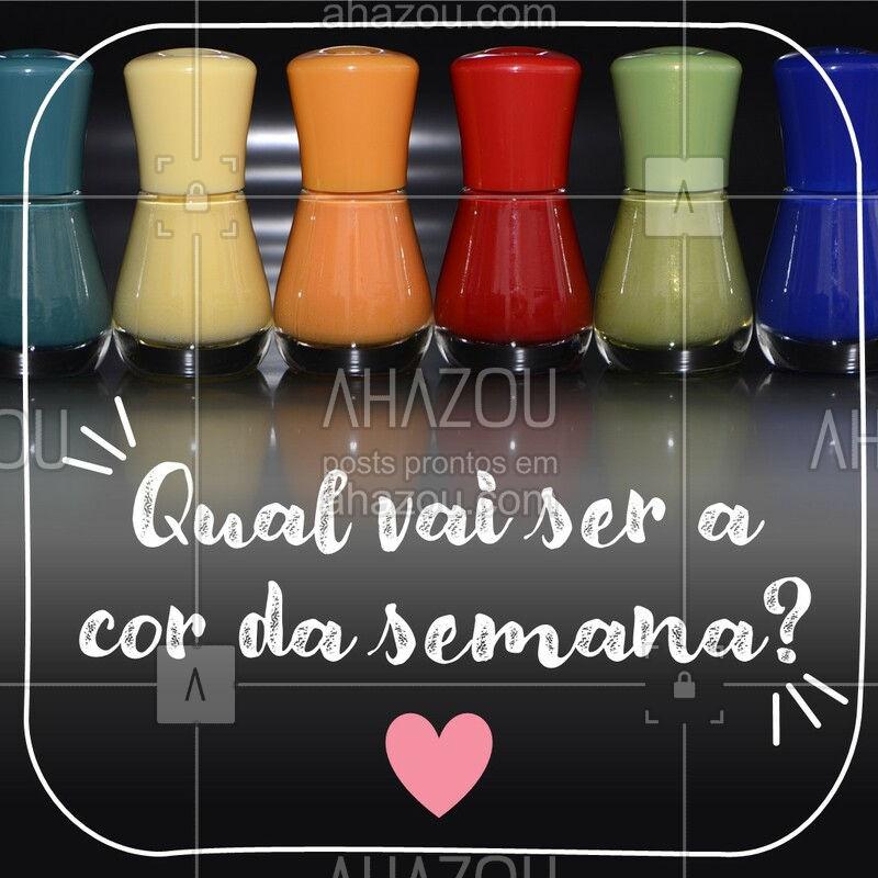 Já está inspirada para escolher a cor das unhas da semana? #ahazou #manicure #nails