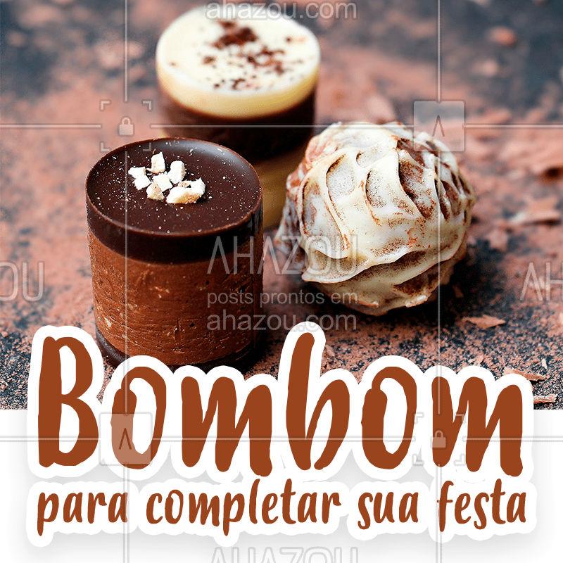 Bombons são deliciosos, todo mundo ama e é uma ótima opção de quitute pra completar a sua festa ? Faça já a sua encomenda! #festas #doces #bombom #bandbeauty #ahazou