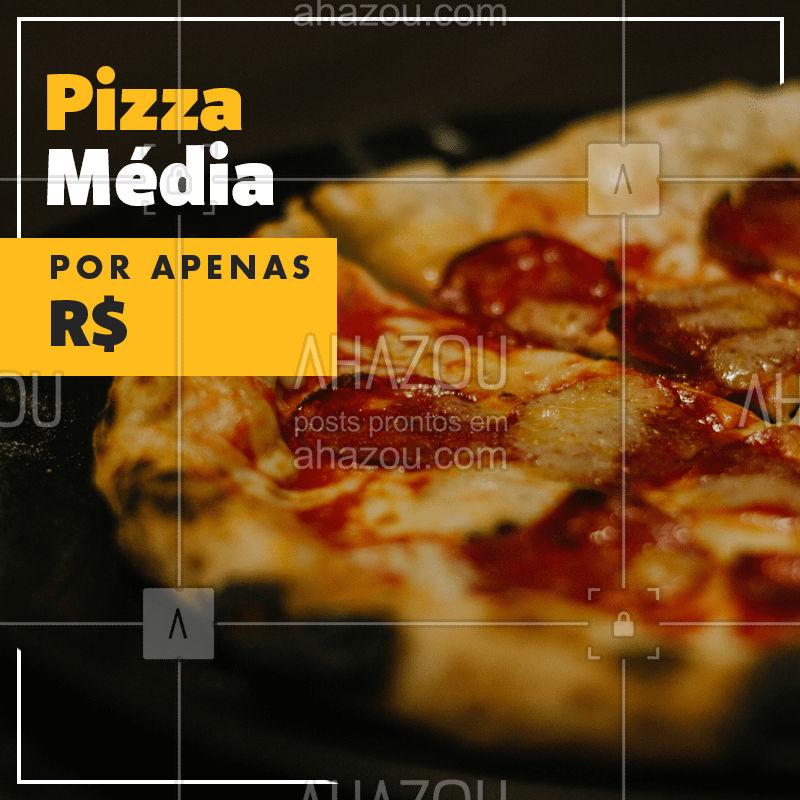 Todo dia é dia de pizza! Peça a sua ? #pizzaria #pizzas #ahazou
