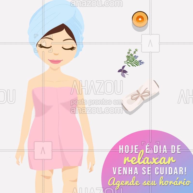 Aproveite para fazer os seus tratamentos estéticos e relxar no momento de folga. #estetica #ahazou #massagem #spa