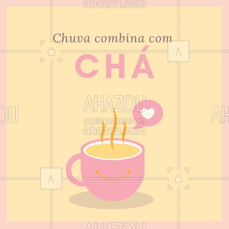 Aproveita o friozinho e a chuva e vem tomar um chá com a gente! #cha #frio #ahazoucafe #cafeteria