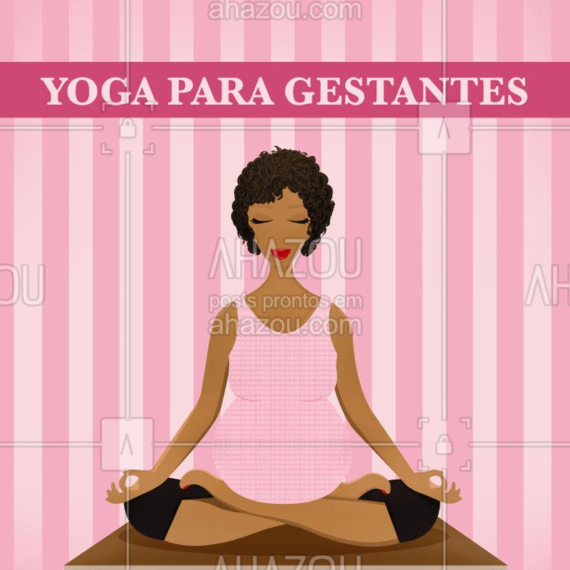 O yoga vem pra acolher o momento da gravidez, mantendo a gestante ativa, conectando-a com seu bebê de uma forma muito especial, trazendo flexibilidade e equilíbrio entre mente e corpo. #yoga #yogagestante #ahazousaude #gestacao #saude #bemestar