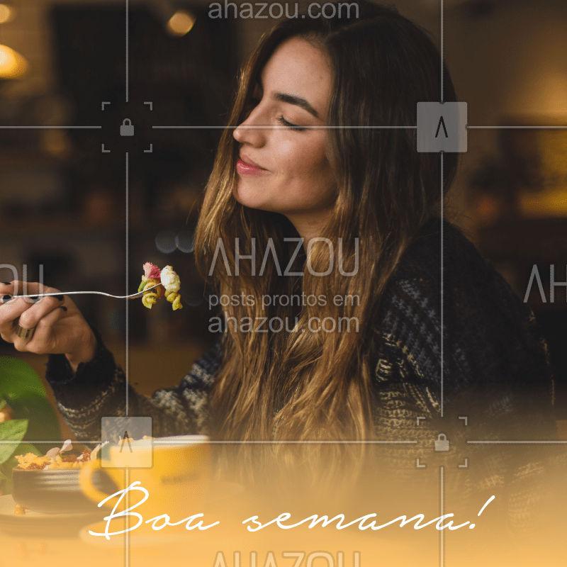 Passando para desejar uma ótima semana para todos vocês, clientes e amigos! ? #boasemana #ahazoutaste #gastronomia #segundafeira
