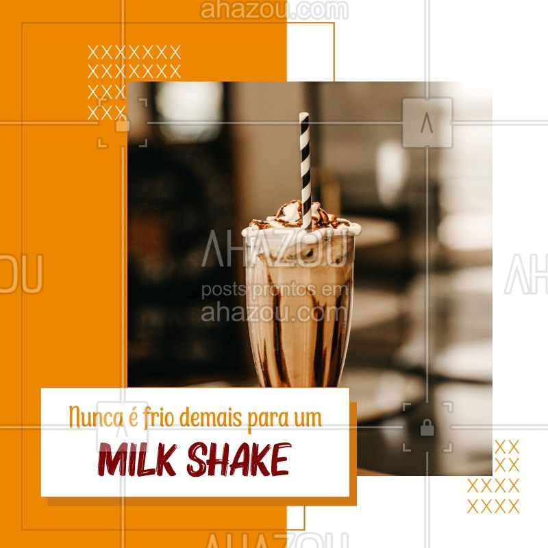 Outono chegando, friozinho também, mas quem consegue dispensar um milk shake? #milkshake #ahazoutaste #sobremesas #sorvete