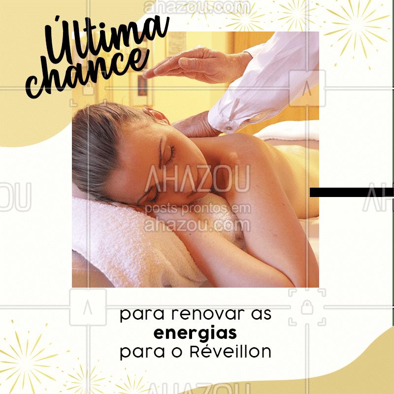 Essa é a sua última chance para relaxar antes que o ano acabe! Vamos receber o ano de 2020 com boas energias? ✨Se você ainda não garantiu o seu horário, corre para agendar!❤️ #fimdeano #anonovo #reveillon #ahazou #bemestar #massagem