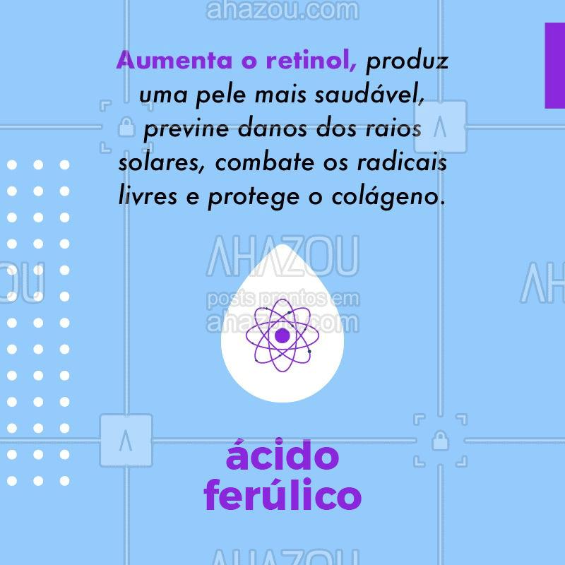 ??Você conhece os diferentes efeitos dos ácidos para a sua pele? Sabe para que serve cada um? Confira aqui as principais funções do ácido felúrico na sua pele . Vem conferir! #acidofelurico #dicas #ahazou