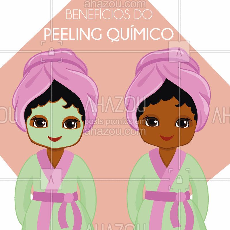 Você já fez? Sabe os benefícios? Confira abaixo: . ?Redução da oleosidade;  ?Clarear sardas, melasma e manchas da idade e do sol; ?Diminuir cicatrizes de acne; ?Prevenção de espinhas; ?Melhorar aparência e textura da pele; ?Diminuir linhas de expressão ?Promover uma revitalização facial ?Estímulo de produção de colágeno. . . Vem que a gente cuida de você! . . . #peleperfeita #skin #ahazou #esteticafacial #beleza