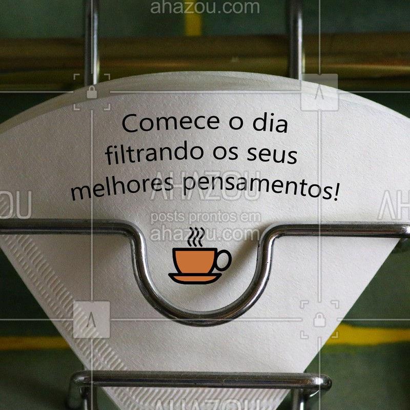 Bom diaa! ☕️ #bomdia #ahazoutaste #cafe