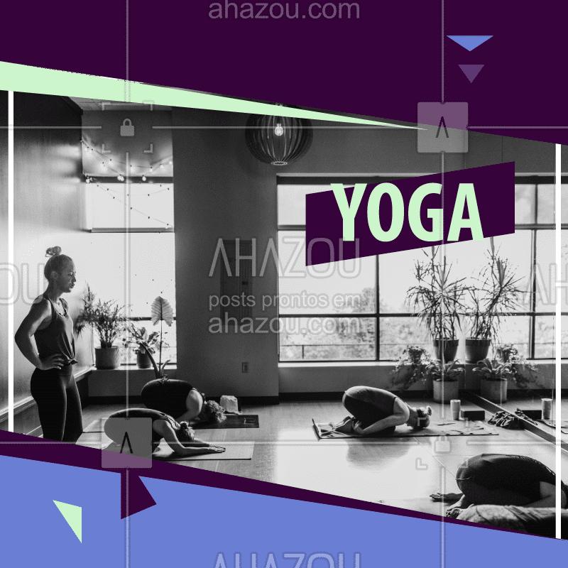 Venha fazer uma aula de Yoga e sentir os benefícios da prática no seu corpo. #yoga #ahazou #saude #agenda #paz